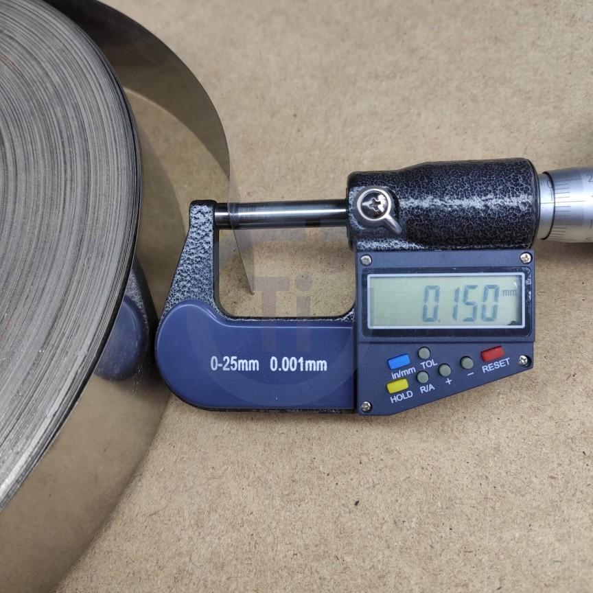 Титановая лента 0.15мм марка ВТ1-00