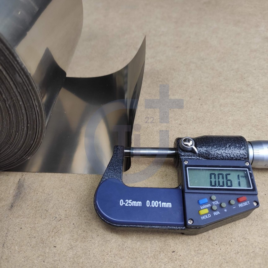 Титановая лента 0.06мм марка ВТ1-00