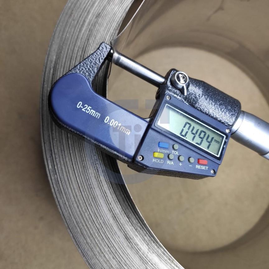 Титановая лента 0.5мм марка ВТ1-00