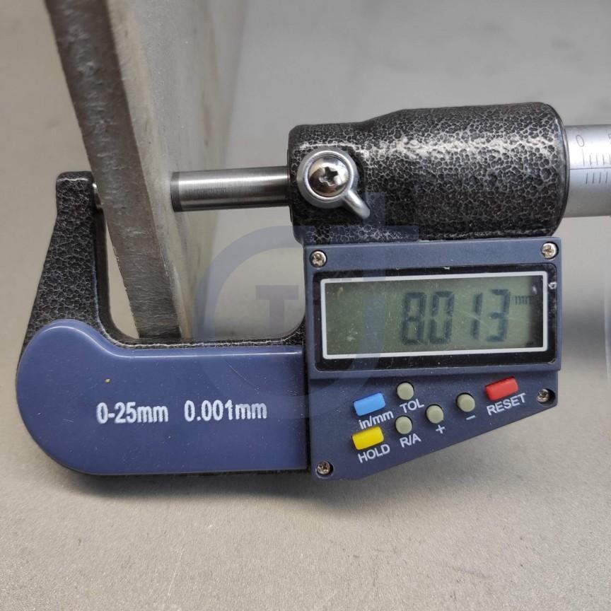Титановый лист 8мм марка ВТ1-0