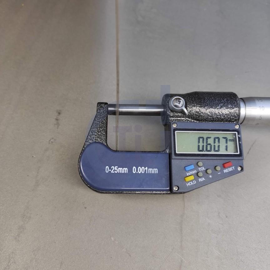 Титановый лист 0.6мм марка ВТ1-0