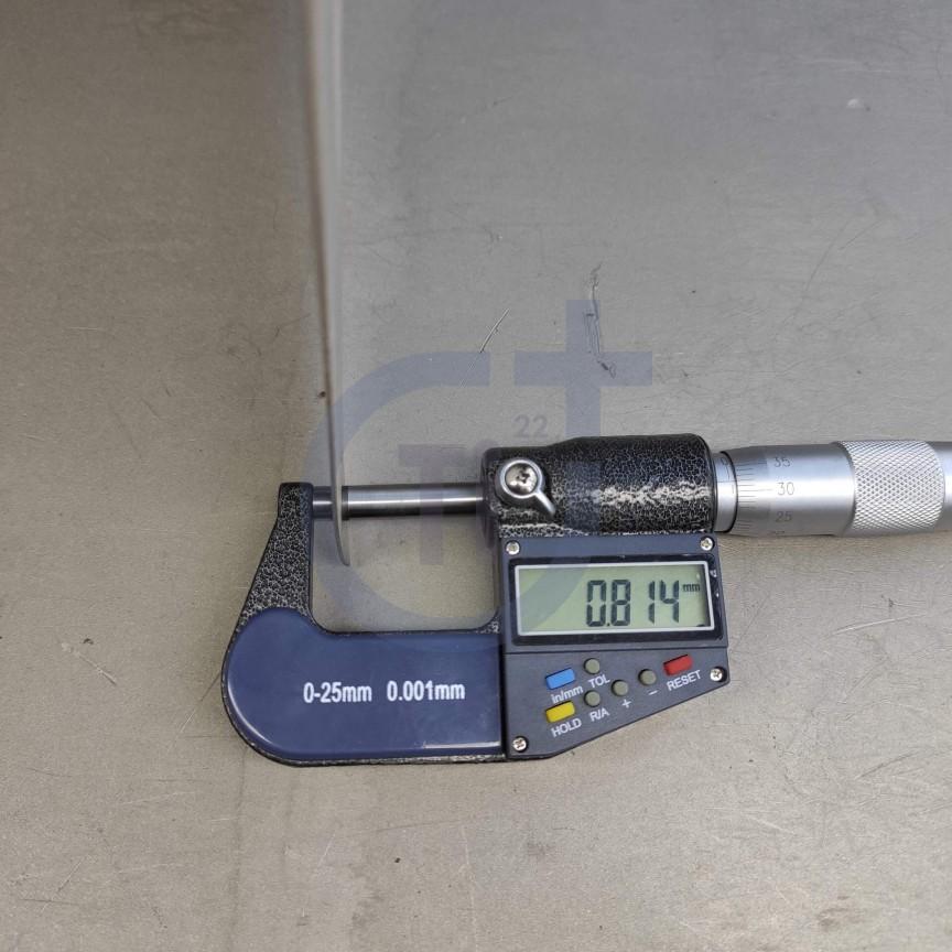 Титановый лист 0.8мм марка ВТ1-0