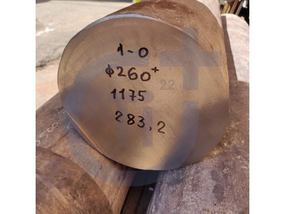 Титановый пруток 260мм марка ВТ1-0